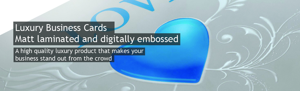 Luxury digitally embossed business cards digital embossing business cards reheart Gallery